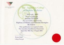 Diploma Shiatsu & Oriental Therapies